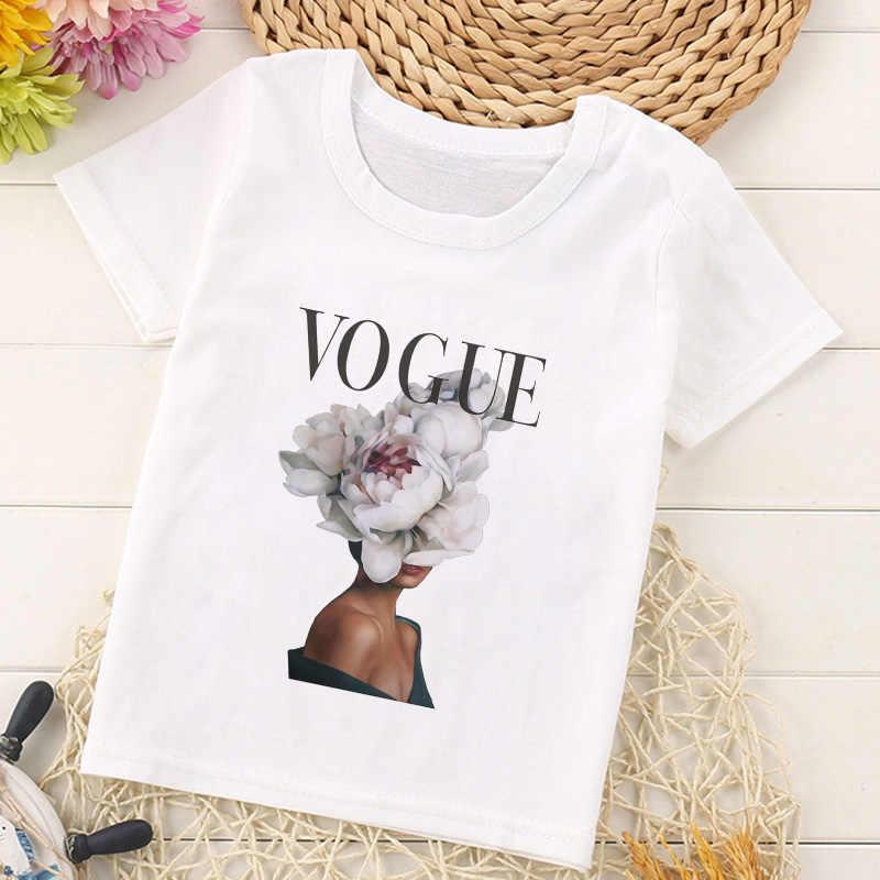 Модные рубашки принцессы с принтом для девочек; Harajuku Kawaii; модный топ для девочек; повседневные футболки с героями мультфильмов для девочек; Детские футболки с круглым вырезом и короткими рукавами