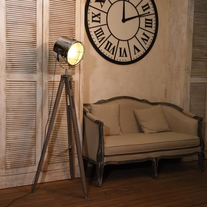 €362.11 |LOFT lampe luminaire poste A1 lampe industrielle nordique trois  trépied lampe photographie salon américain-in Lampadaires from Lampes et ...
