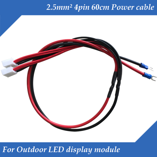 10pcs/lot Pure Copper 60cm 4pin Power Supply Cable /Power Cord /Power Wire For Outdoor LED Display Module