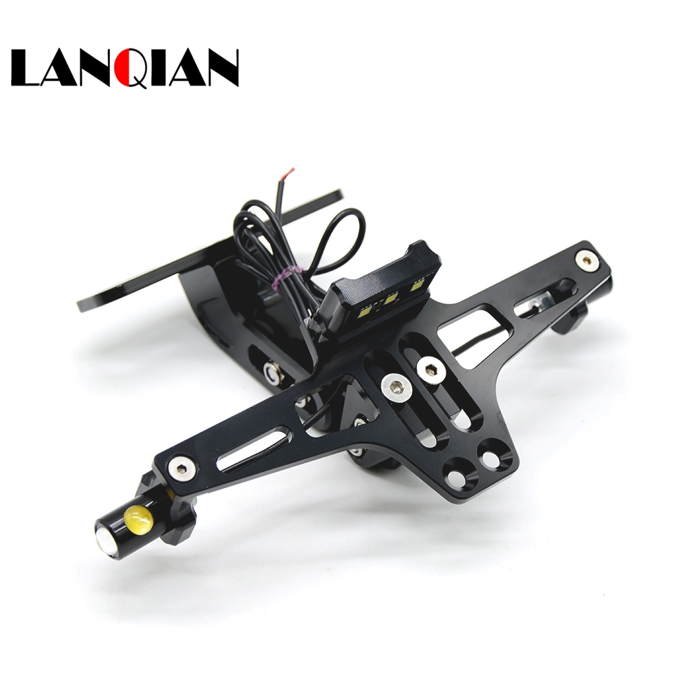 Motorcycle Accessories CNC License Plate Mount with turn sigal LED For Yamaha XJ6/DIVERSION XJR 1300/Racer XSR 700 900/ABS
