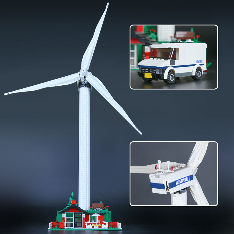 IN STOCK Lepin 37001 873PCS The Vestas Windmill Turbine Set Children Educational Building Blocks Bricks Toys Model Gifts 4999 dhl lepin 18032 2932 pcs the mountain cave my worlds model building kit blocks bricks children toys clone21137 in stock