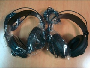 Image 4 - Original Samson SR850 professional monitor Headphone Semi open Studio Headset one pair two pieces package