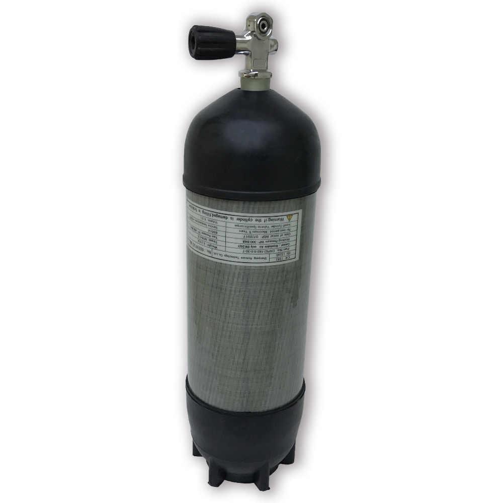 AC109591 الغوص/الغوص خزان hpa 300bar co2 اسطوانة الملحقات كرات الكربون أسطوانة من الألياف مع نير صمام ACECARE