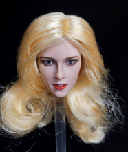 1/6 Blond Hair Kristen Stewart Head Sculpt for 12 Female Bodies