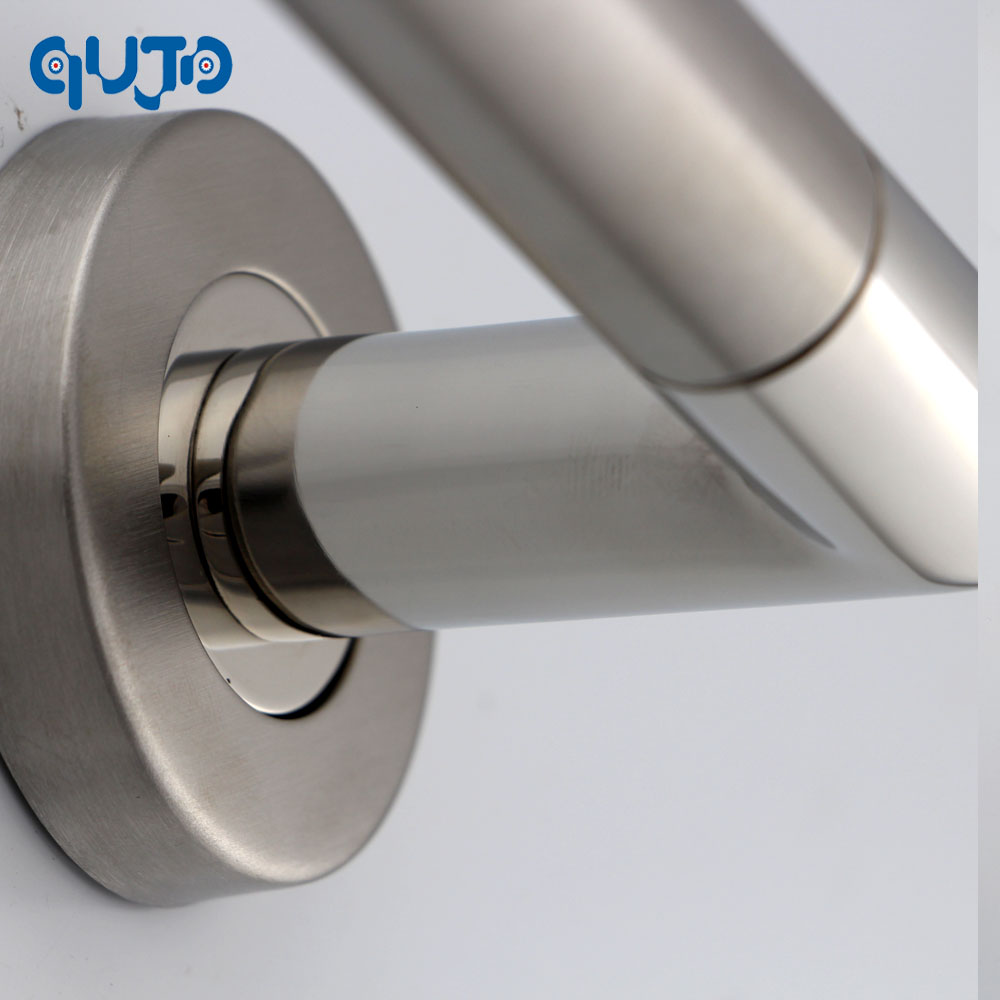 Commercial Tube Door Lever Handle On Rose Polished And Satin Lever - Commercial bathroom door handle