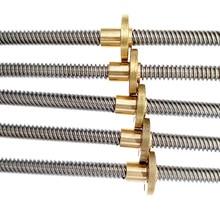 Свинцовый винт T8 400 мм линейная направляющая части 3D принтеров спиральный шаг 2 мм 4 мм 8 мм 10 мм 12 мм трапециевидные винты с гайкой
