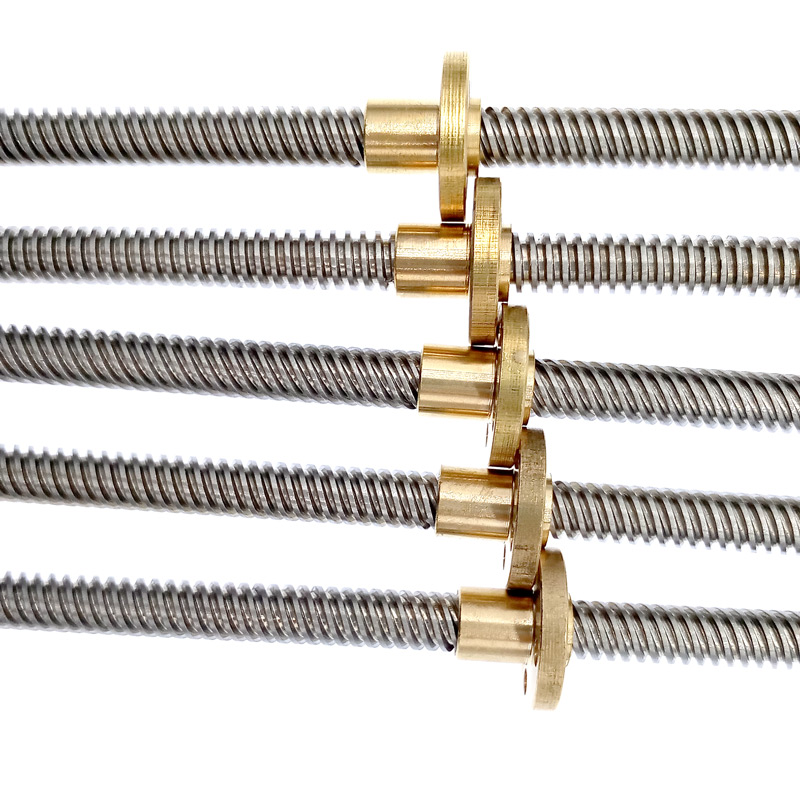 Lead Screw <font><b>T8</b></font> <font><b>400mm</b></font> Linear Guide 3D Printers Parts helical pitch 2mm 4mm 8mm 10mm 12mm Trapezoidal Screws with nut image