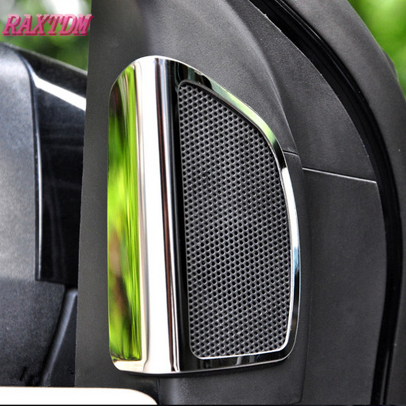 Car Styling Stainless Steel Speaker Vent Sequin Sticker Case For Ford Focus 3 2012 -2014 Accessories