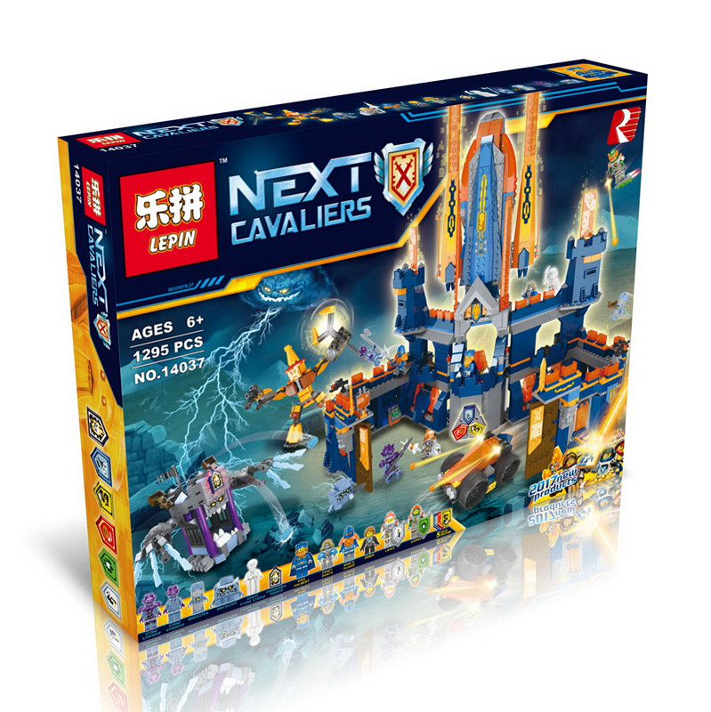 Second Half of the Latest Future Knights Building Blocks LEPIN 14037 1295Pcs Educational Bricks Kits Toy Model Toys for Children 16013 castle knights the lord of the rings series the battle of helm deep model building blocks bricks toys for kids 9474 lepin