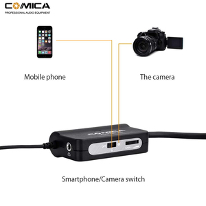 Image 2 - Comica AD1 Microphone Preamp XLR to 3.5mm Audio Adapter XLR to TRS/TRRS Adapter for DSLR Cameras Camcorders and Smartphones