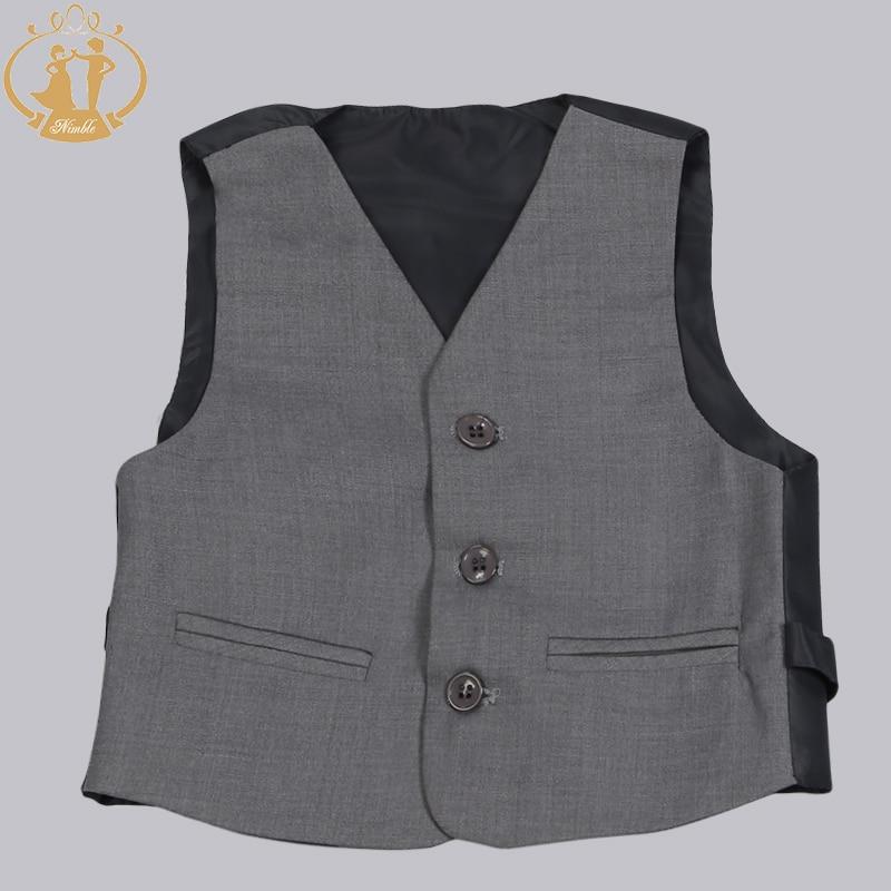 Nimble Brand New Formal Solid Boy Suits Set 3 stycken + Jacka + Pant - Barnkläder - Foto 3