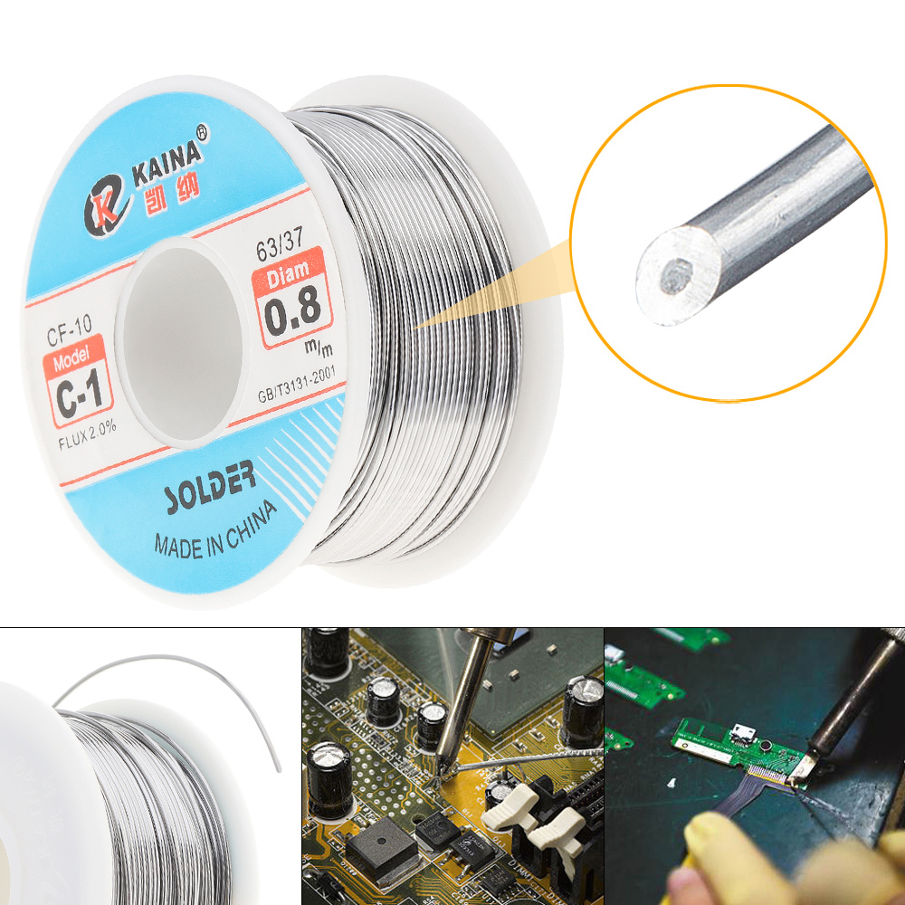 63/37 C-1 100g High Purity Rosin Core Solder Tin Lead Wire Reel For Electric Soldering Iron 0.6mm 0.8mm 1.0mm 1.2mm 1.5m 2.0mm