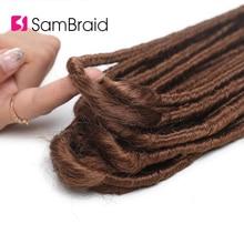 Sambraid yeni Dreadlocks sentetik örgü saç Dreads sarışın tığ örgüler saç uzatma 20 inç faux kilitleri kadınlar için
