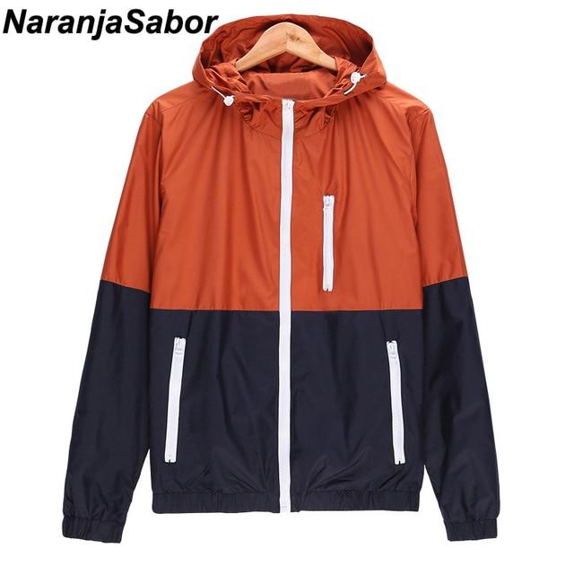 305bfe5e815 NaranjaSabor Casual Jacket Womens Mens Windbreaker 2018 New Fashion Jacket  Men Hoodie Jackets Male Coat Spring Outwear 6 Colors