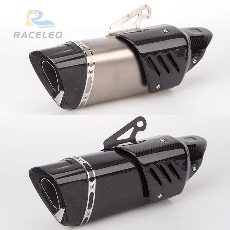 36-51mm universal motorcycle exhaust muffler carbon fiber exhaust for Z900 gsxr750 NINJA250 MT10 YZF-03 CB300R DUKE390 F750GS цена
