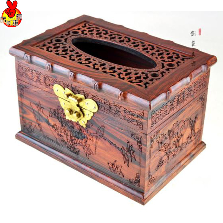 rosewood rosewood paper towel box lid box wood box bamboo furniture craft gift factory outlets chinese bamboo furniture
