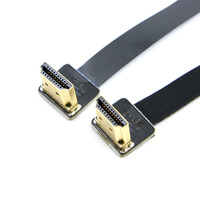 20cm FPV Dual Up Angled 90 Degree HDMI Type A Male To Male HDTV FPC Flat