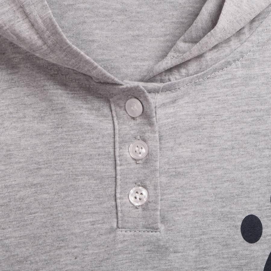Cat Pattern Ears Hooded Shirt (5)