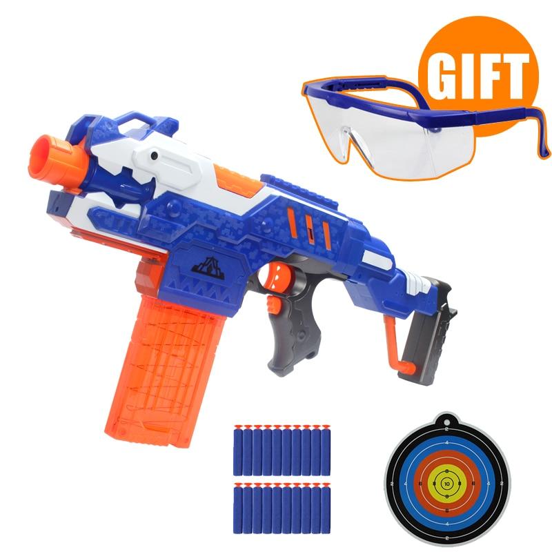 Electric Continuous launch Soft Toy Gun Assembly Submachine Gun Children Gifts Toys Gun Shooting airsoft air guns pistol airsoft недорго, оригинальная цена