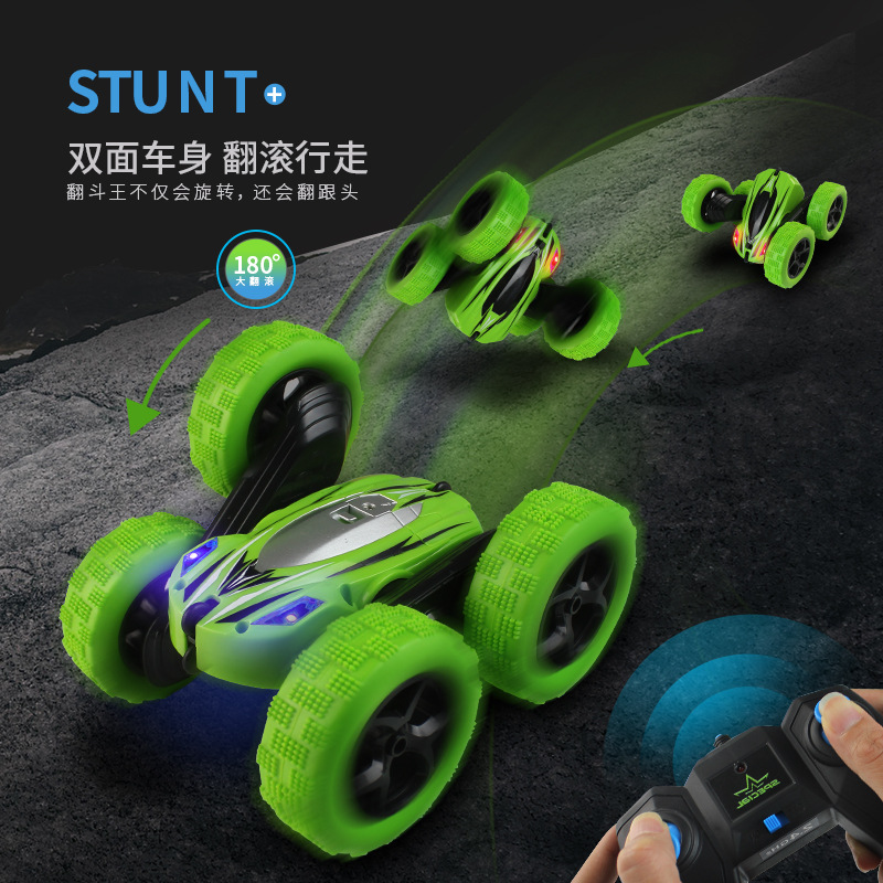 Image 2 - Remote Control Stunt Car Double Tumbles Somersault Stunt 2.4 Rechargeable Remote Control Car Children's Toy Out Floor Boy Toy-in RC Cars from Toys & Hobbies