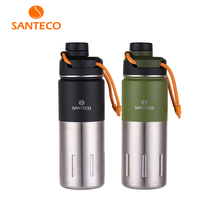 Santeco 500ml Thermos With Rope Double Wall Stainless Steel Vacuum Flask Coffee Tea Milk Travel Thermo Bottle Gifts Thermocup