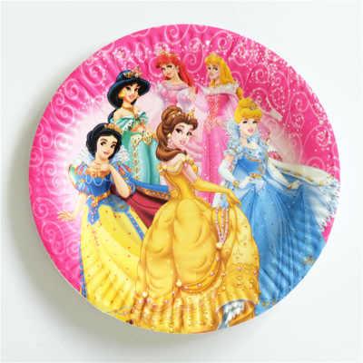 Prinzessin Thema Papier geschirr Platte Tasse Banner Gläser Einladung Tischdecke Topper Ballon Tasche Favor Kid Partei Geburtstag Geschenk