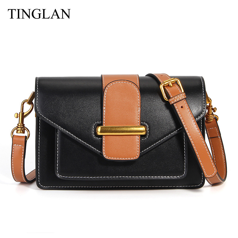TINGLAN Brand Women Messenger Bag Real Leather Shoulder Crossbody Bags for Women Fashion Small Shoulder Bag Genuine Leather 2018 luxy moon real genuine leather backpack for women sheepskin small mini mutifuction shoulder bag fashion women s bags zd724
