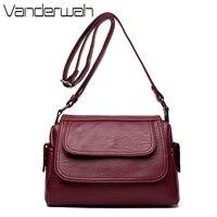 VANDERWAH Bags Handbags Women Famous Brands Designer Handbags High Quality Pu Leather Ladies Crossbody Shoulder Bag