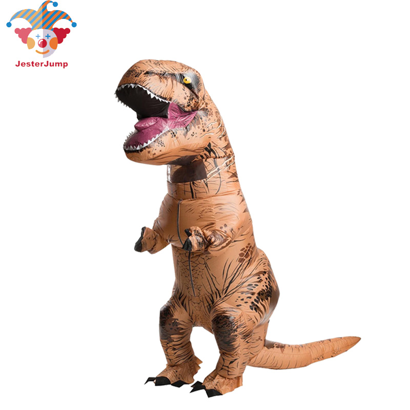 InflatableT REX Costume Jurassic World Park Blowup Tyrannosaurus Dinosaur Halloween Inflatable Costume Party Costume For Adult