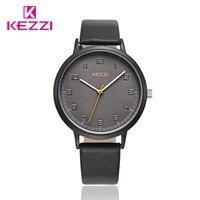 KEZZI Fashion Brand Women Waches Leather Strap Ladies Wristwatches Casual Quartz Clocks For Women And Men