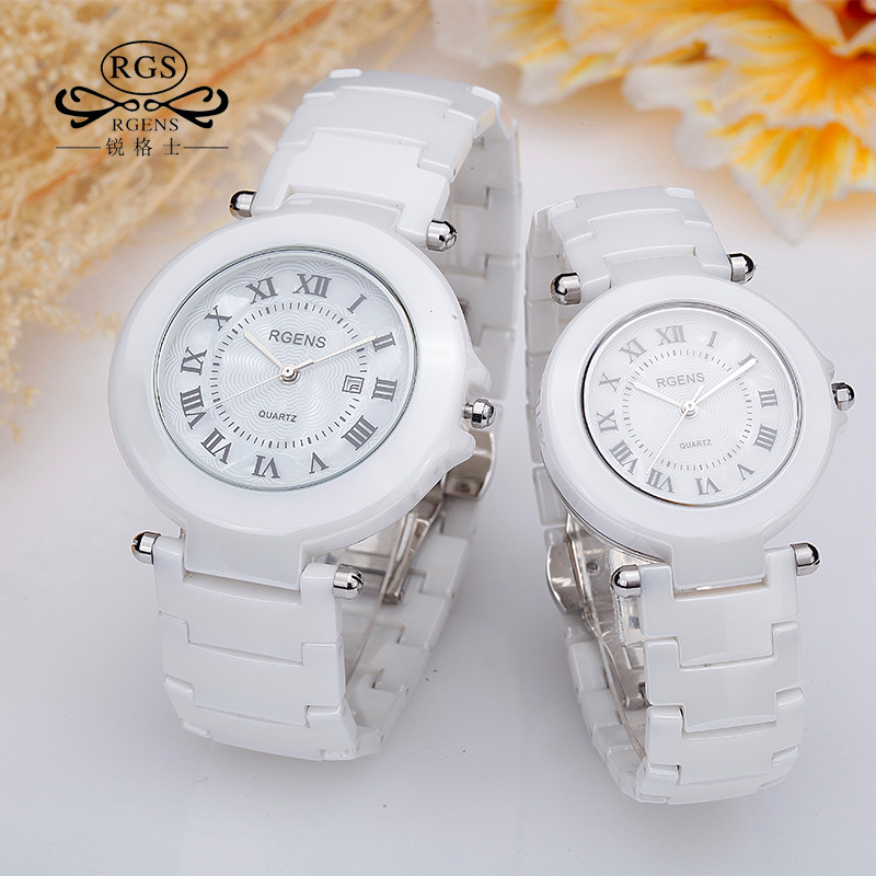 Female Man Casual Watch Calendar 2017 Brand Clocks Luxury Couple Men Women Ceramics Wristwatch Fashion Quartz Waterproof