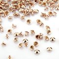 PHFU 100 Rose Golden Copper 7mm Round Cone Rivets Studs Punk for Bag Shoes Bracelet