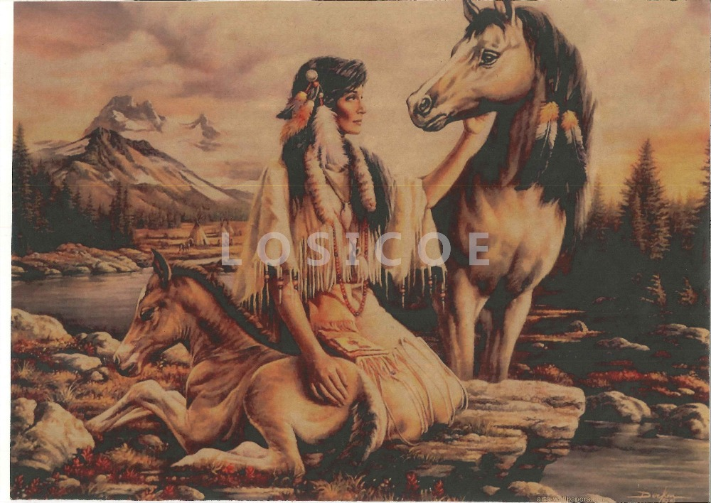 Buy high definition vintage the indians for Definition for mural