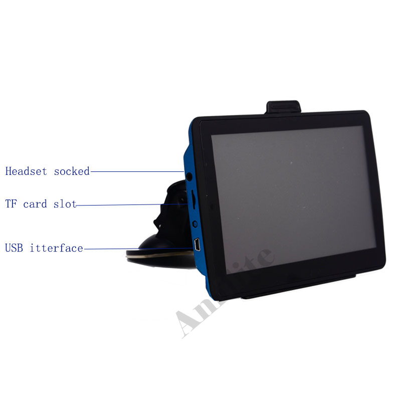 Anfilite 7 inch 800x480 DDR3 128M 4GB Bluetooth avin truck vehicle gps  navigator Windows wince CE 6 0 800MHZ car GPS Navigation