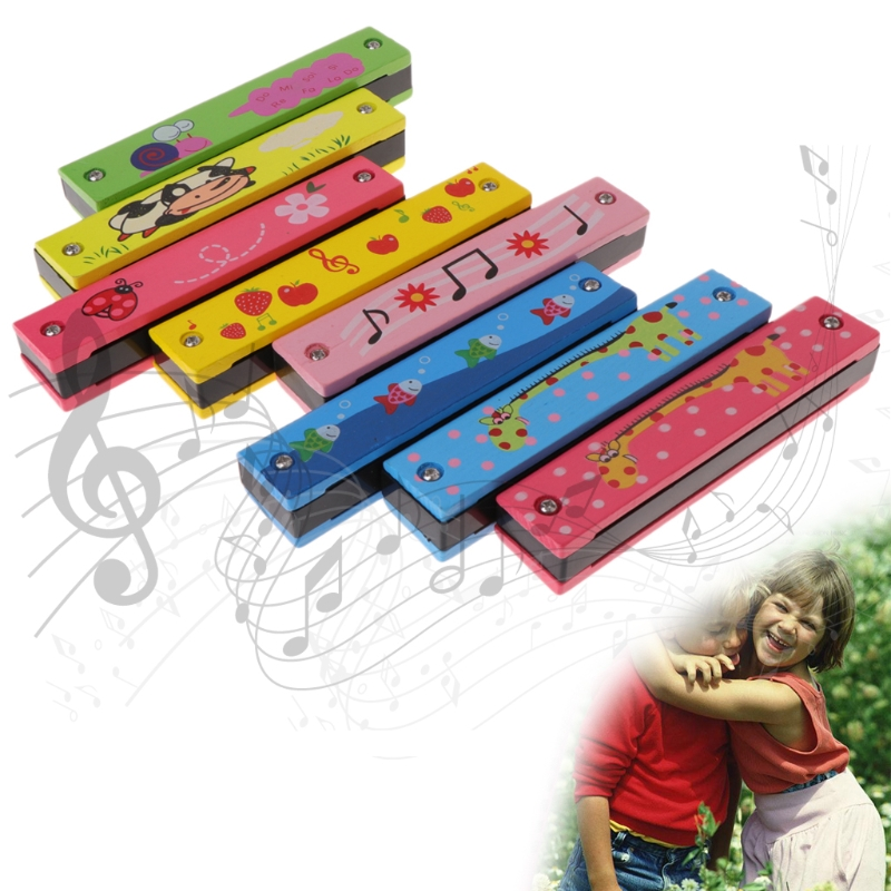 16 Holes Cute Harmonica Kids Wind Instrument Beginner Musical Educational Toy