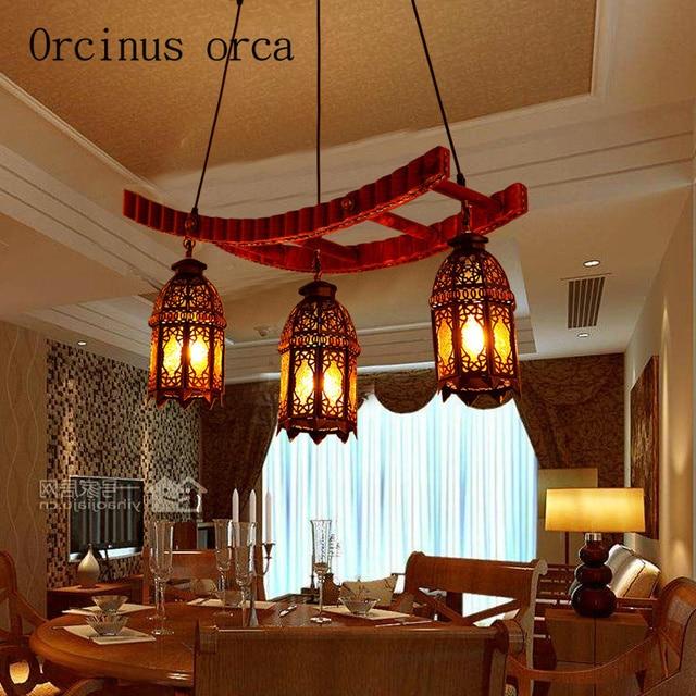 Mediterraneo europeo retrò in legno massello lampadari ristoranti ...