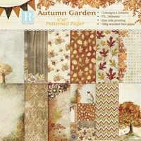 24 Sheets Autumn Garden Scrapbooking Pads Paper Origami Art Background Paper Card Making DIY Scrapbook Paper Craft