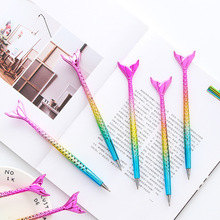 New 10PCS Cute Mermaid Ballpoint Pen kawaii School Stationery Supplies Styling Fish Dazzling Ballpen Creative Office Gift