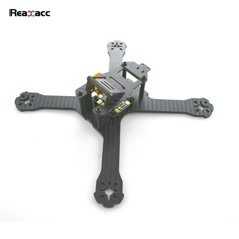 Original Realacc X210 214mm 3mm/4mm Carbon Fiber FPV Racing Frame With Matek PDB XT60 5V 12V For RC Multicopter Model Spare Part high quality realacc orange85 fpv racer spare part 3s 11 1v 450mah lipo battery for rc model