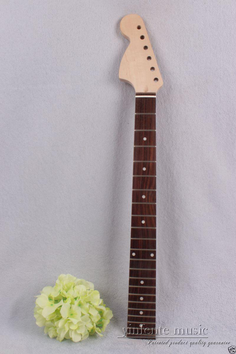 1pcs electric guitar neck maple 22 fret rose wood 24.75'' Truss Rod left hand #786 new electric guitar neck maple 24 fret 25 5 truss rod unfinished no frets nice