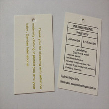 Customized Hang tag for Maternity Dress Eco-friendly, and healthy