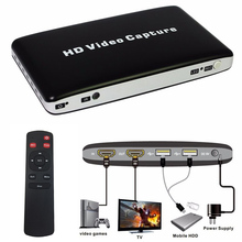 USB 1080P HD Video Capture HDMI HDD Game AV Video Capture Recorder + Remote Control Game Recording Support Video Playback