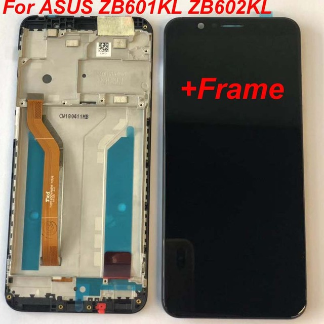 "+ Marco para 5,99 ""ASUS ZenFone Max Pro M1 ZB601KL ZB602KL pantalla LCD pantalla + panel táctil digitalizador de pantalla con marco Original lCD"