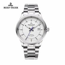 Reef Tiger/RT Reloj de negocios para hombre, de lujo, de alta calidad, movimiento automático, 316L, de acero sólido, superluminoso, RGA8015