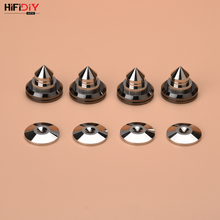 HIFIDIY LIVE 4PCS/Sets speaker Stand Feet Foot Pad zinc alloy metal silvery (NOT pure copper) Spikes Cone Floor Foot Nail M28*26