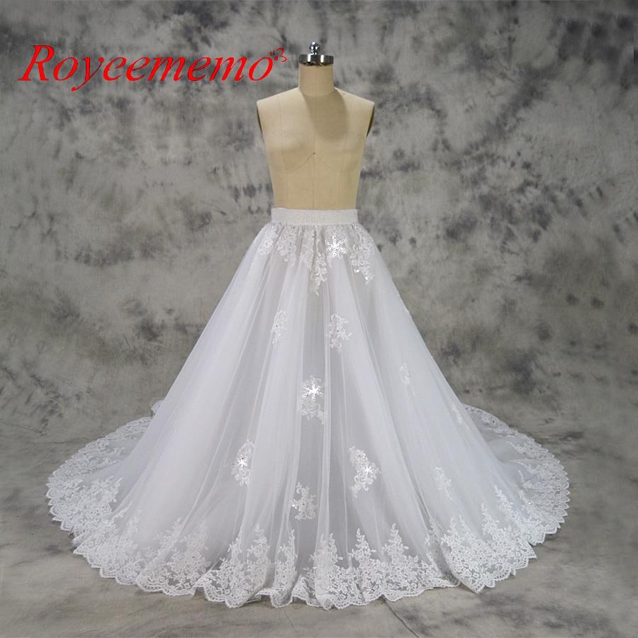 removable princess big train wedding dress lace skirt good quality cheap price