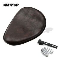 Motorcycle Vintage Brown 3 Spring Bracket Solo Seat Cushion For Harley Sportster 883 Softail Springer Chopper