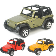 3 Color Kid Toy Alloy Diecast Jeeps Wrangler Open Top Off Road Vehicles Mini Model Toys for Children Boys Glide Car Boy Gift