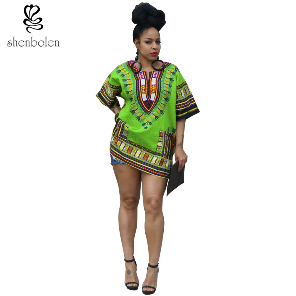 7acb6b458 Africa Clothing for Women dashiki traditional print Men and women can wear  dashiki top short -in Africa Clothing from Novelty & Special Use on ...
