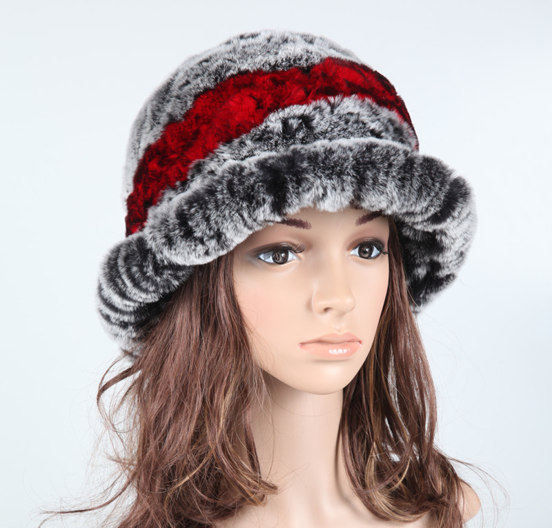 fur hat New autumn ear protector cap head warmer headgear Skull womens winter rex rabbit HA109